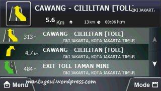 Navigasi dalam teks mode