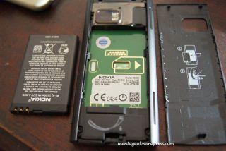 Tampilan tanpa pasang baterai
