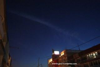 Coba shooting night sky