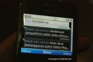 SMS dari 3636
