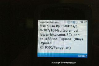 Pulsa udah Rp0 :)