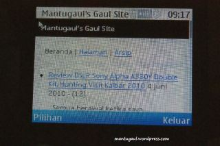 Website tampilan mobile