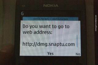 Buka link langsung dengan browser nokia