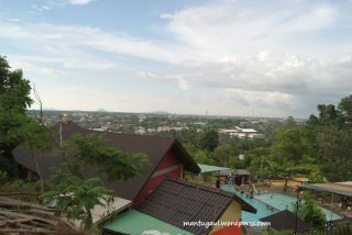 Tampak Villa Bukit Mas Singkawang dari atas