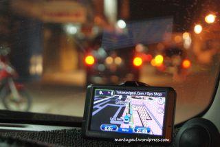 Kemana-mana harus bawa GPS :)