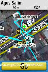 Posisi peta dari alamat terpilih