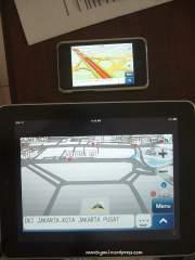 GPS Papago perbandingan dengan ipod touch