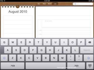 Calendar dan papan qwerty