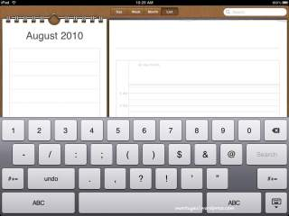 Calendar dan papan angka