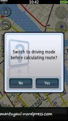 Switch to driving mode