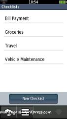 Checklist untuk catat informasi perjalanan kita