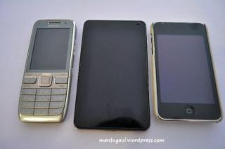 Nokia E52, Nuvi 3760, Ipod touch