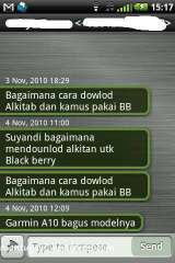 SMS threaded