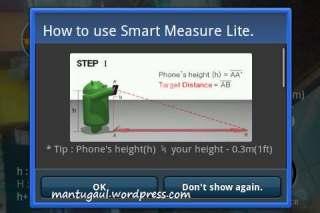 Smart measure, ukur jarak dan ketinggian