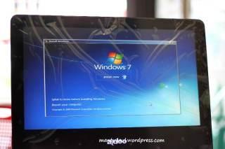 Berhubung dapatnya Linux, jadi musti install windows terlebih dahulu