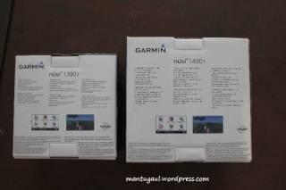 Kotak Nuvi 1390T dan Nuvi 1490T tampak belakang