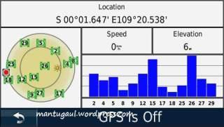 Satellite status Nuvi 1390T