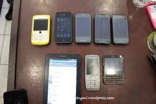 Perbandingan dengan gadget lain