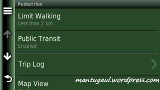 Pengaturan untuk pejalan kaki