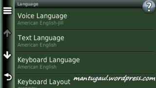Pengaturan bahasa dan keyboard