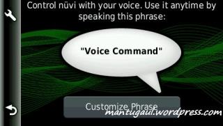 Pengaturan voice recognition