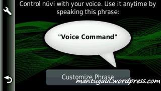 Pengaturan voice recognition