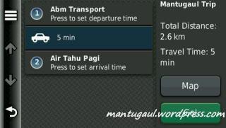 Ringkasan trip planner