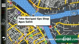 Posisi peta toko navigasi