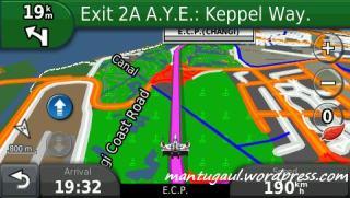 Tampilan peta saat navigasi