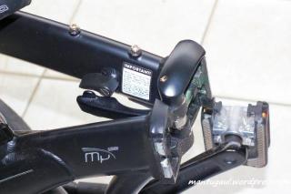 Lipatan utama yang membagi sepeda jadi 2 lipatan