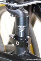 Clamp untuk batang sadel (seat post clamp), di Dahon dinamakan Dahon Turtleneck Seatpost Clamp