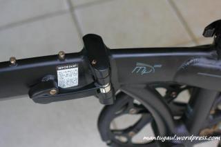 Frame sepeda terkunci (top tube)