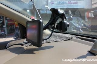 Posisi kamera saat di car mount