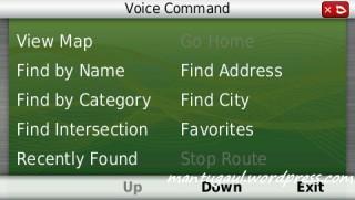 Voice command, menunya persis dengan 2465