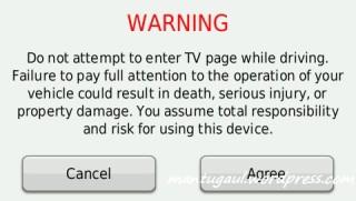 Waktu nyalakan TV ada peringatan tambahan