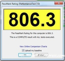 Performance Test 7.0 Passmark Rating
