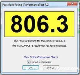 Performance Test 7.0 Passmark Rating