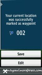 Mark waypoint