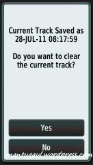 Jika sudah disave keluar pilihan maukah membersihkan track lama?