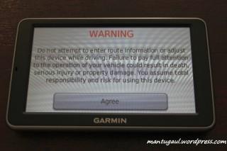 Warning page