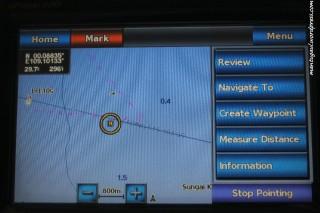 Informasi saat panning map