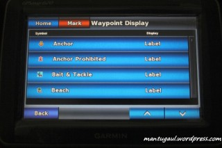 Waypoint display
