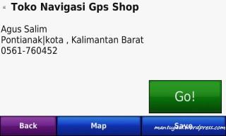 Informasi toko navigasi