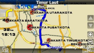 Routing ke ancol