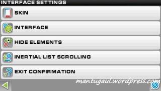 Pengaturan interface/tampilan