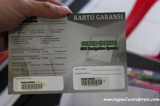 Kartu garansi