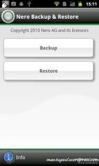 Nero backup & restore
