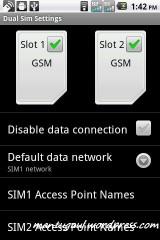 Pengaturan data untuk dual sim