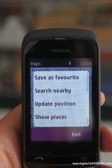 Menu di Nokia Map