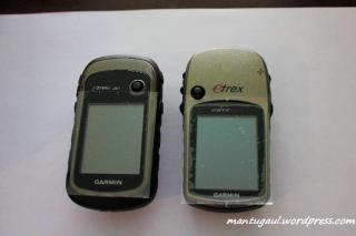 Etrex 30 vs Etrex Vista HCX tampak depan